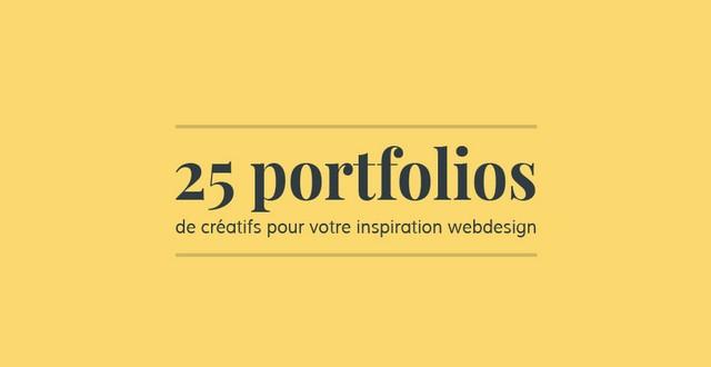 25 portfolios de créatifs pour votre inspiration webdesign